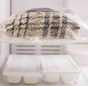 одежда в морозилке