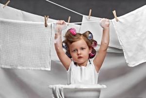 Ребенок должен находится только в чистом белье