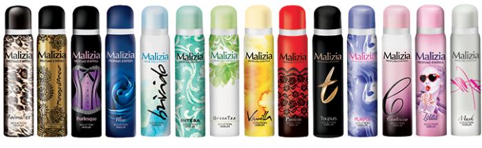 Итальянские дезодоранты Малиция